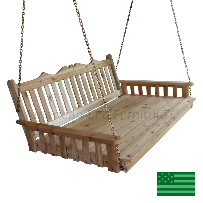 Cedar Portia Porch Swing Bed