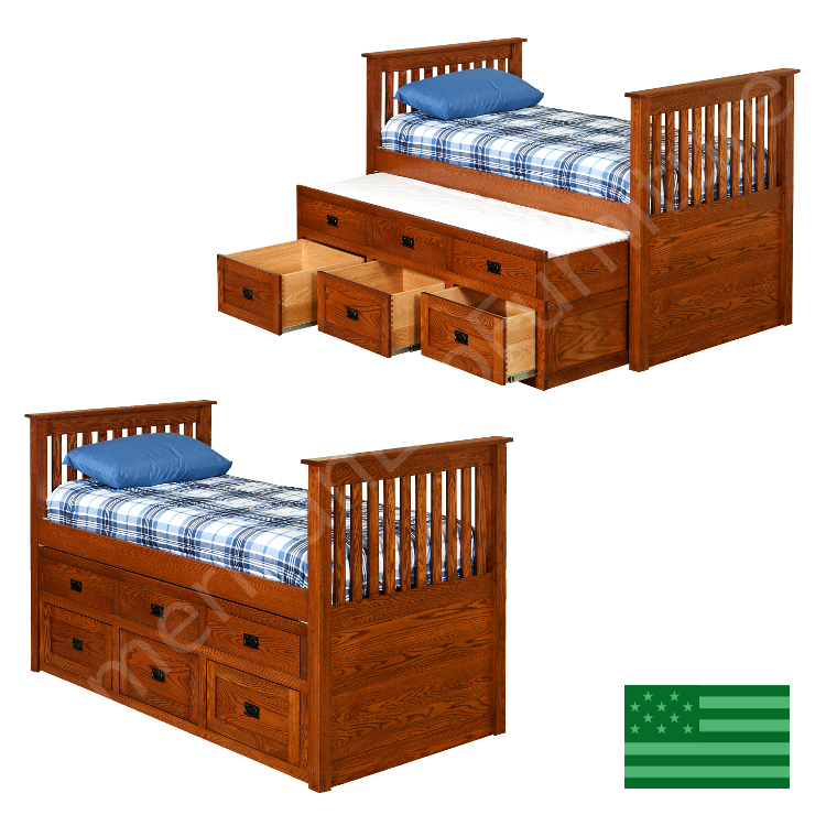 Devin Storage Trundle Bed