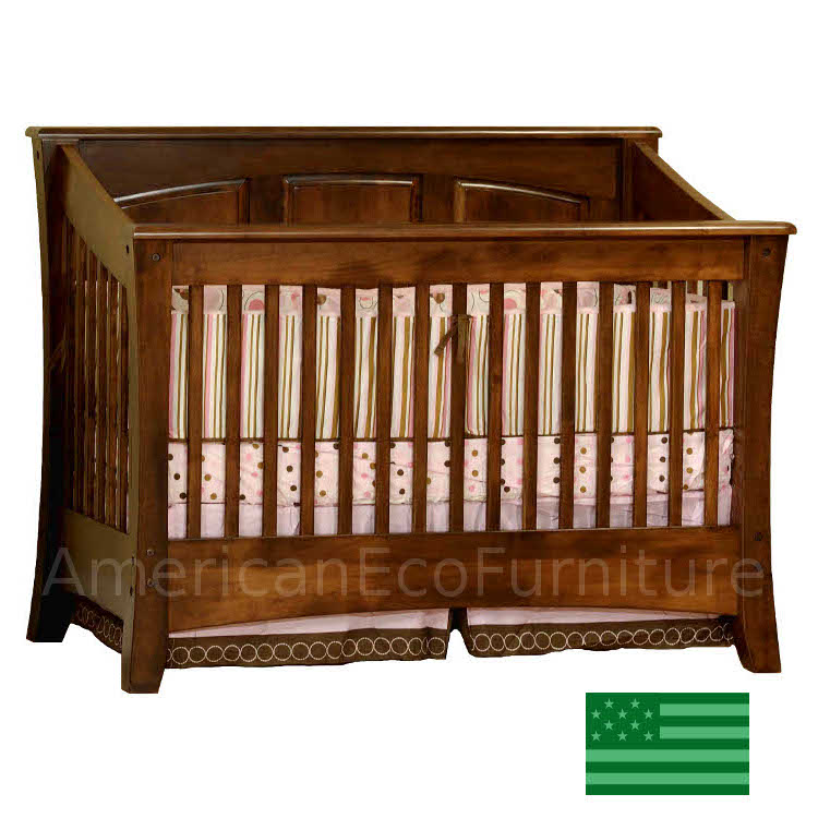 Cambria Panel Convertible Baby Crib Made In Usa Solid Wood