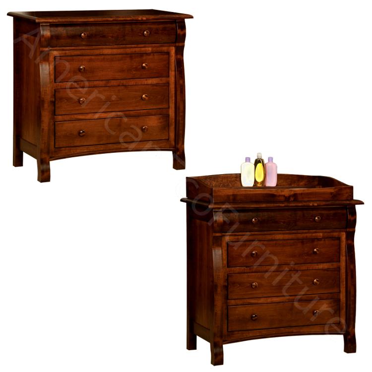 4 Drawer Dresser / Baby Changer (Shown in Brown Maple)