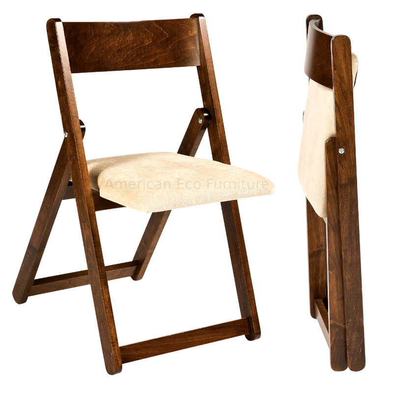 Optional Folding Chair Shown Here In Brown Maple