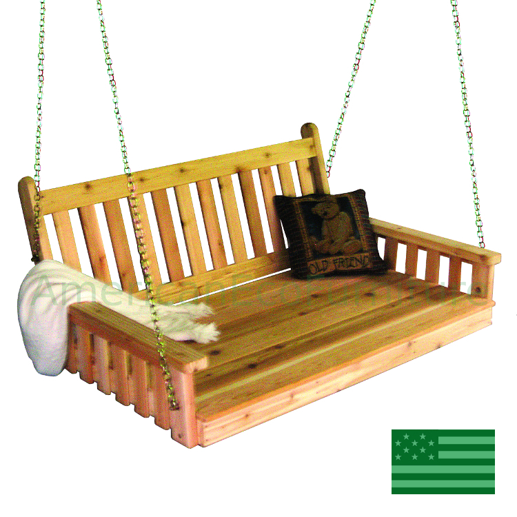 Cedar Elsa Porch Swing Bed