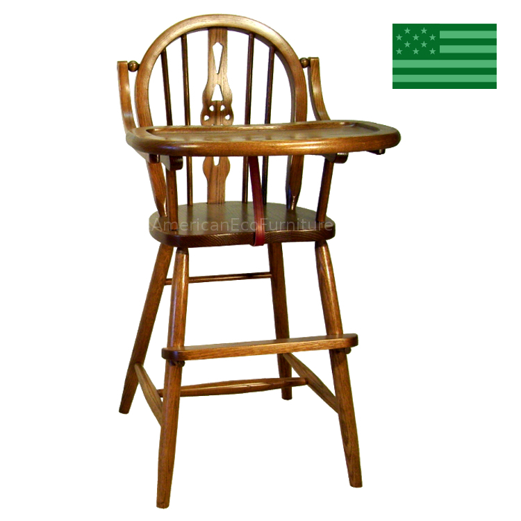 Fiddle Back Baby High Chair