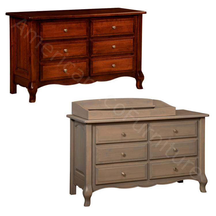 6 Drawer Dresser & Baby Changer