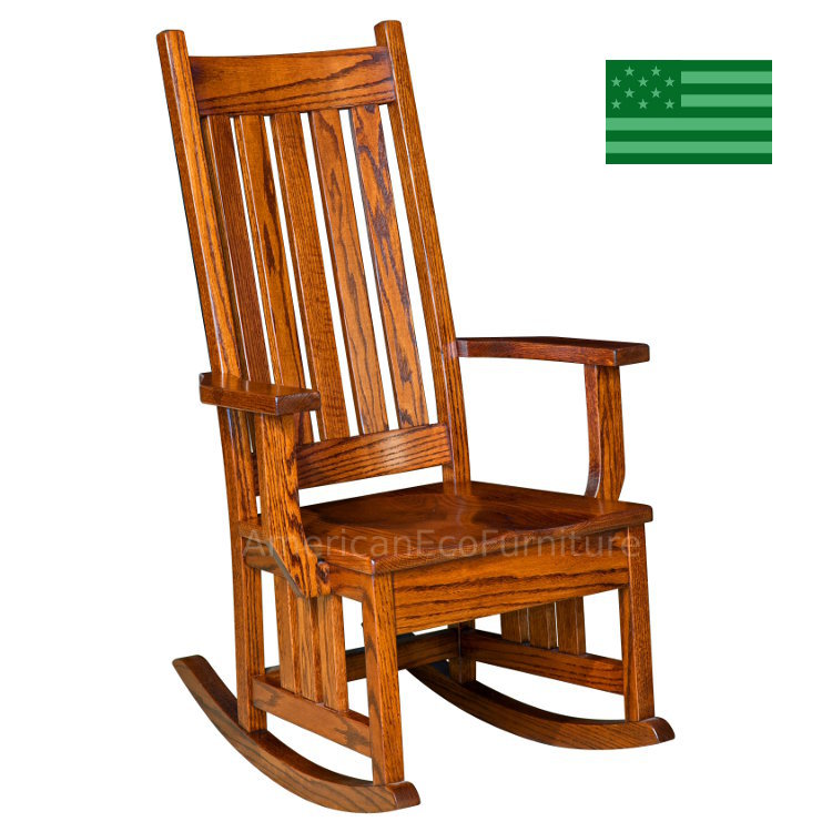 Hoosier Mission Rocking Chair