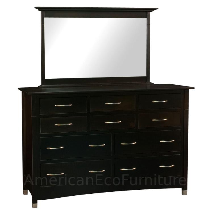 10 Drawer Dresser & Mirror