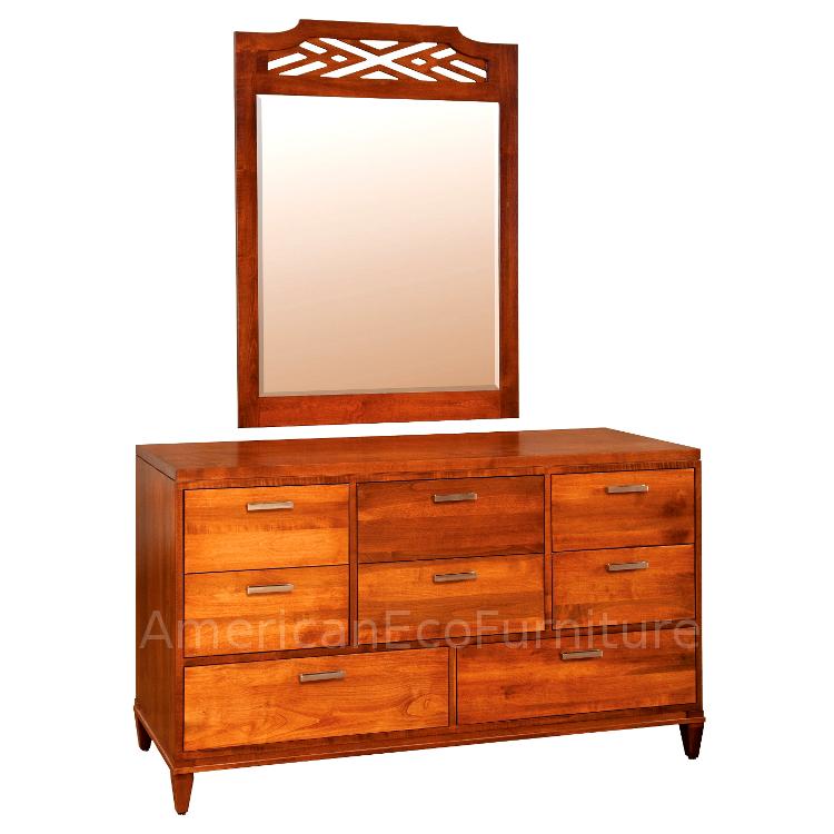 """60"""" 8 Drawer Dresser & Mirror"""