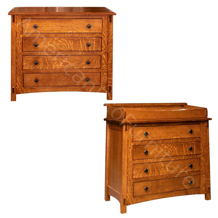 4 Drawer Dresser / Baby Changer (Shown in QSWO)