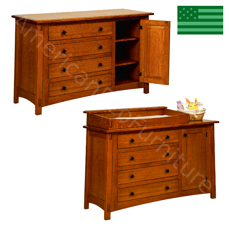McCoy 4 Drawer / 1 Door Dresser & Baby Changer