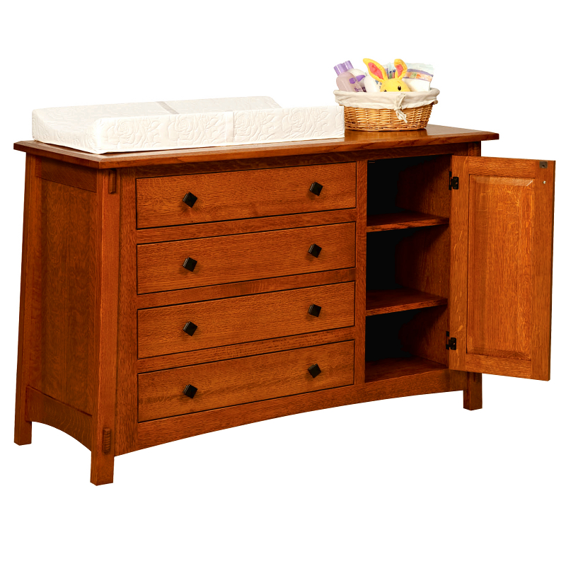 Dresser with Baby Changing Pad