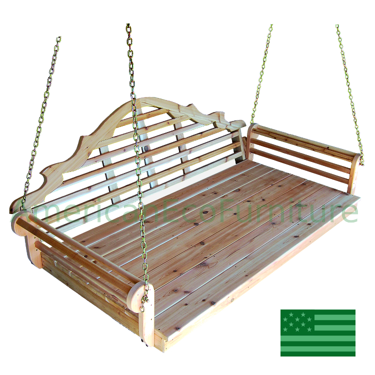 Cedar Minorca Porch Swing Bed