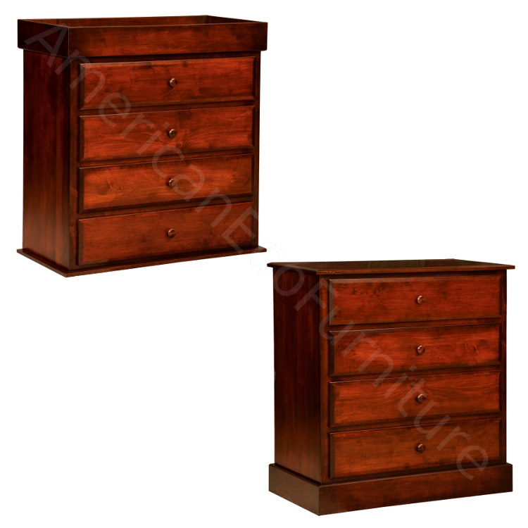 4 Drawer Reversible Dresser (Shown in Brown Maple)