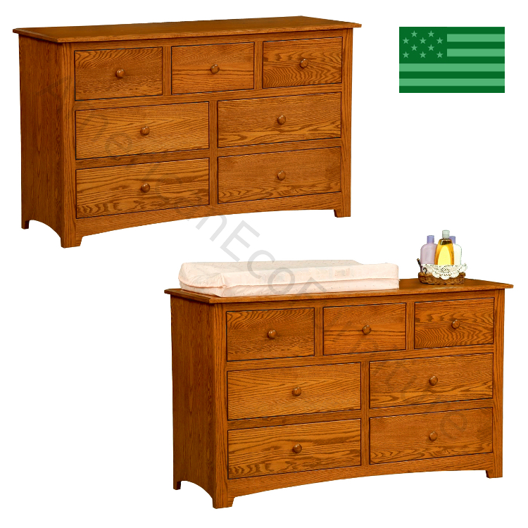 Monterey 7 Drawer Dresser & Baby Changer