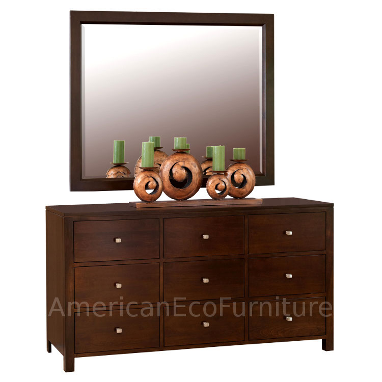 9 Drawer Dresser & Single Mirror