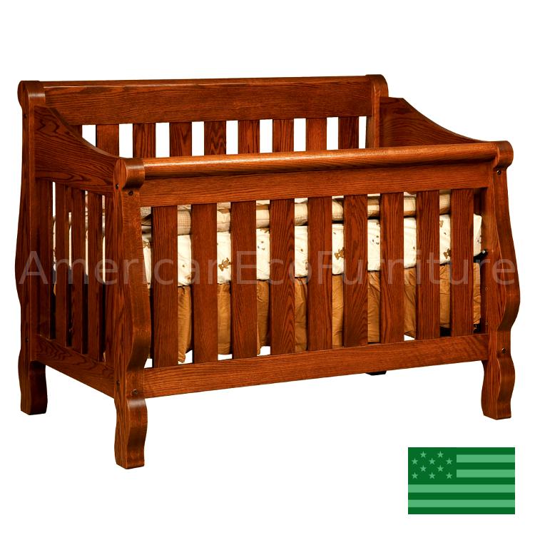 Sleigh 4 in 1 Convertible Baby Crib