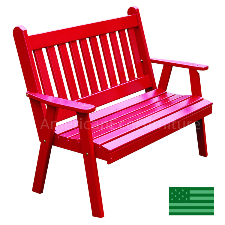 Strange Amish English Garden Bench Solid Southern Yellow Pine Made Ncnpc Chair Design For Home Ncnpcorg