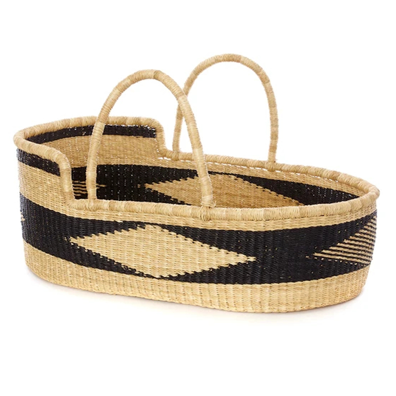 Large Onyx Akili Moses Basket for Loungers