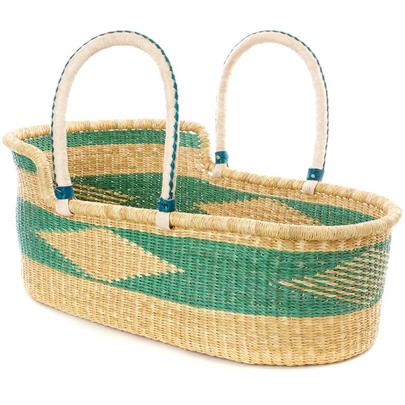 Large Turquoise Akili Moses Basket for Loungers