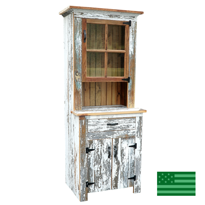 Amish Reclaimed Barnwood 26 Inch Wide Hutch with Drawer.800.png