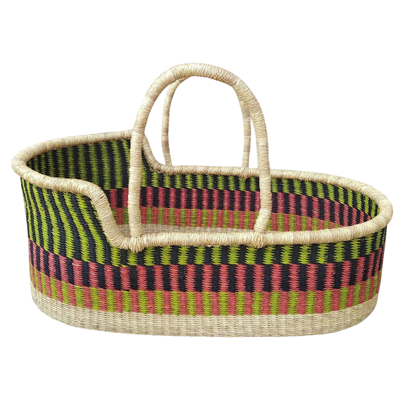 Large Flora Moses Basket for Loungers