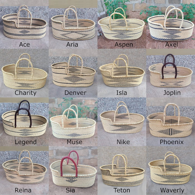Large Geometric Moses Baskets for Loungers