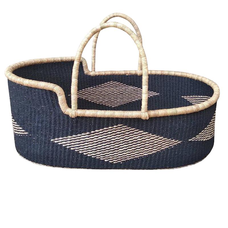 Indigo Bolga Moses Basket