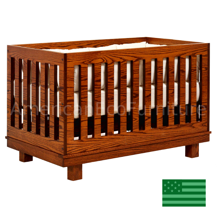 Soho convertible baby crib made in usa american eco for Child craft soho 4 in 1 convertible crib in natural