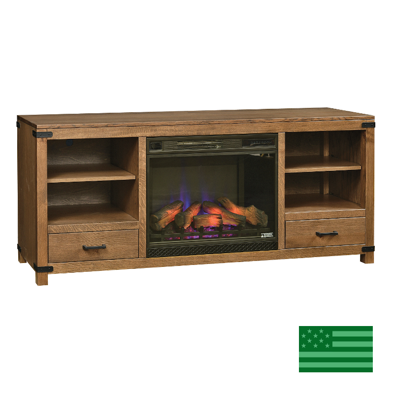 Benson Media Cabinet & Fireplace