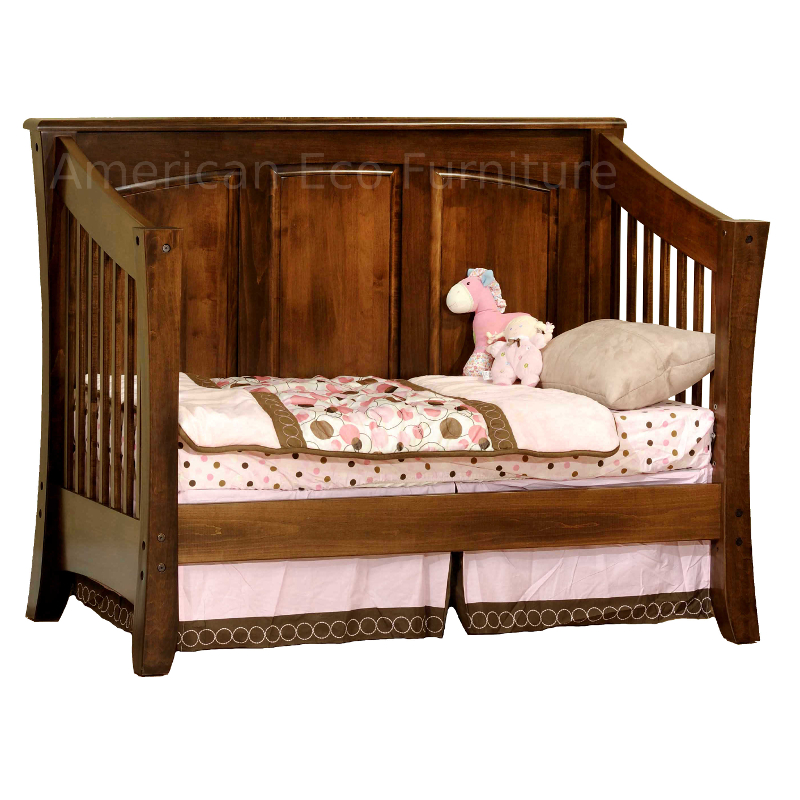 Cambria Panel Convertible Baby Crib Made In Usa Solid
