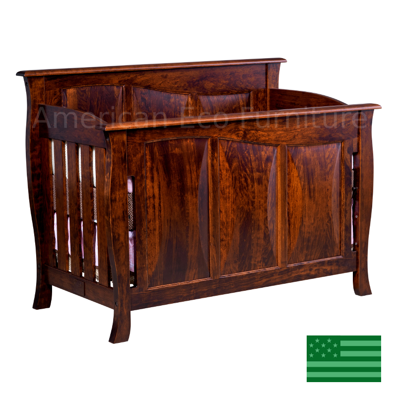 Amish Belmont 4 In 1 Convertible Baby Crib Solid Wood