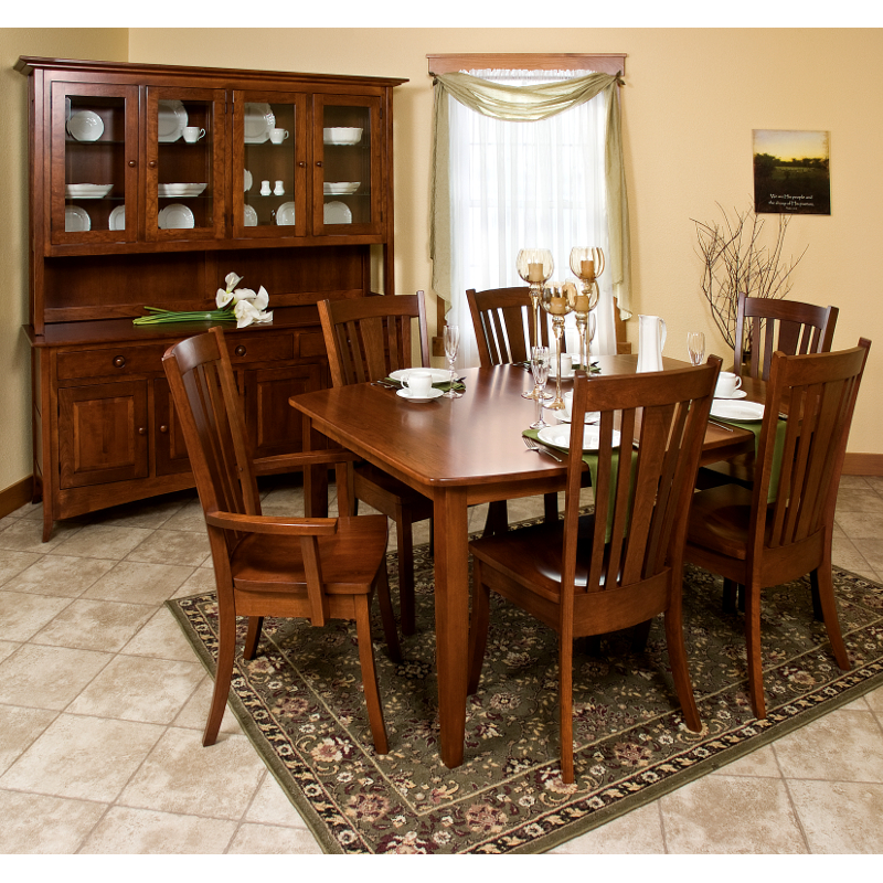 made in america dining chairs amish solid wood heirloom On curacao furniture