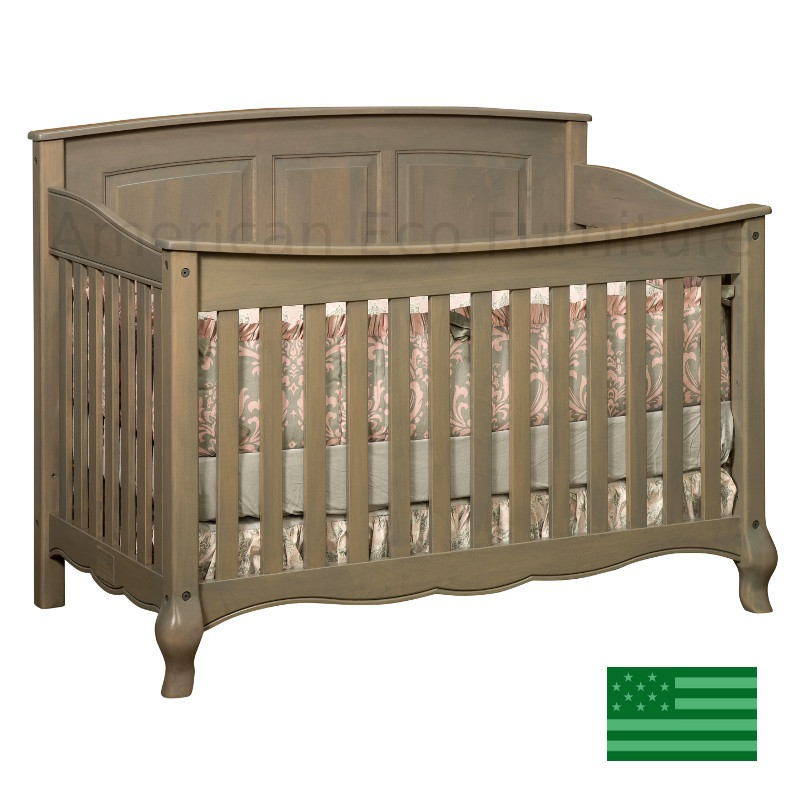 French Country Slats 4 in 1 Convertible Baby Crib