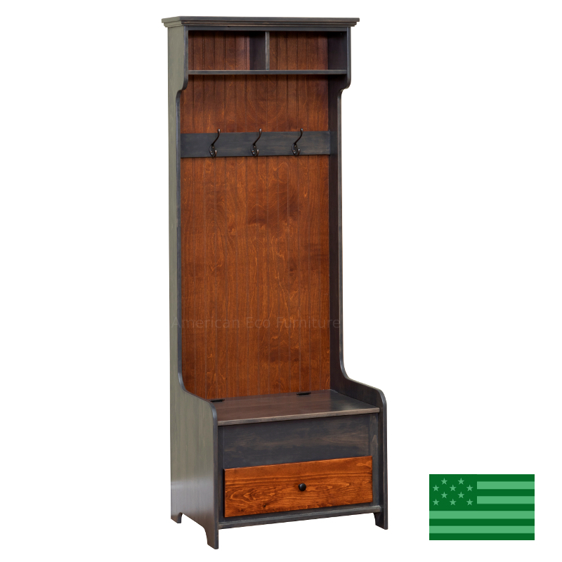 Hall Tree with Drawer