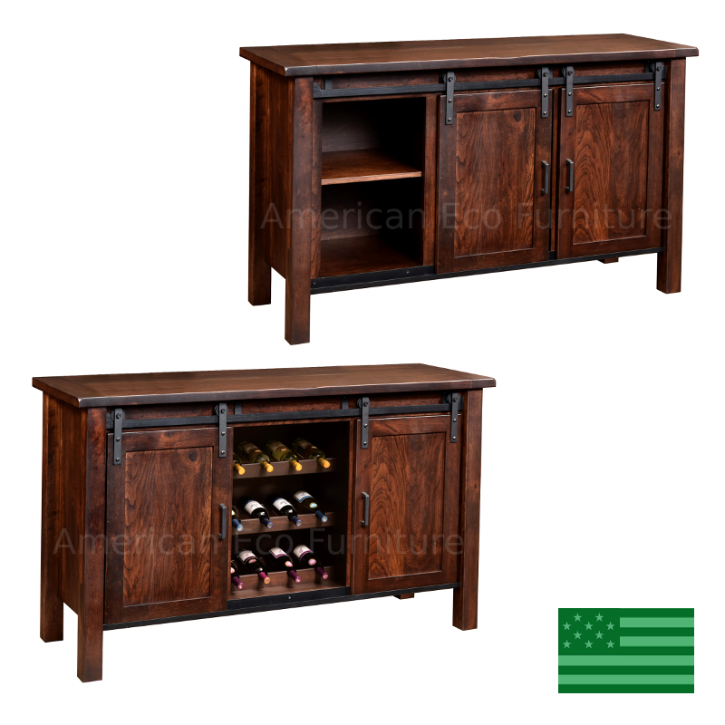 Homestead Buffet with Wine Rack