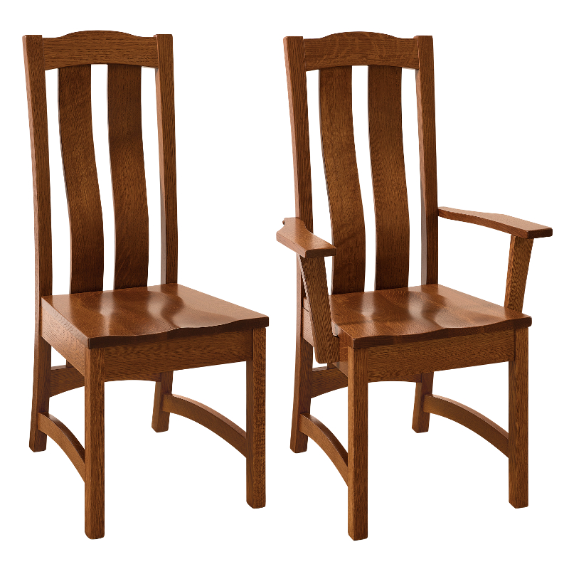 Made in america dining chairs amish solid wood heirloom for Dining room tables made in usa