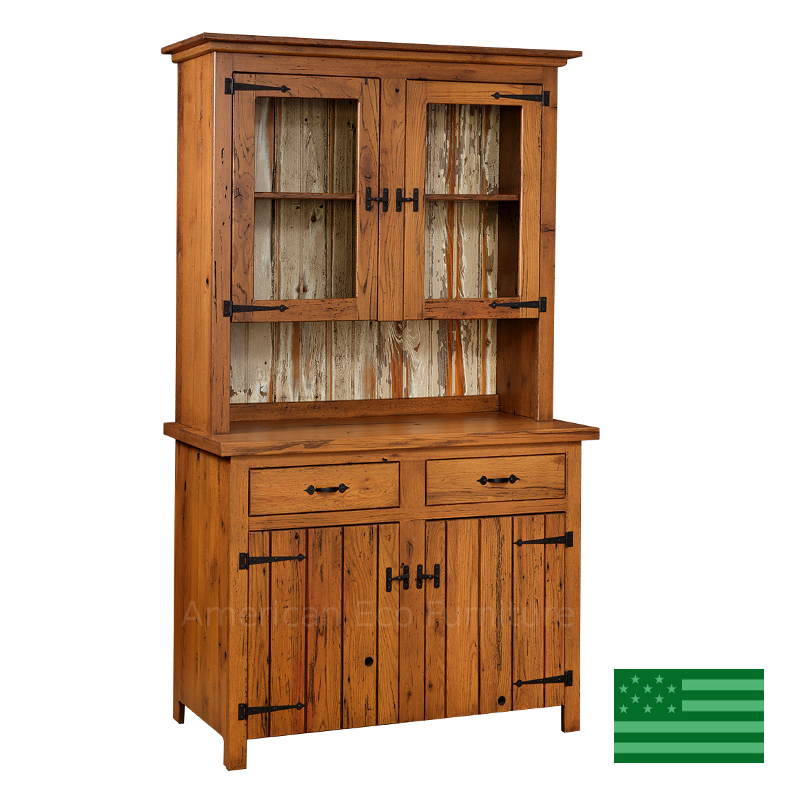 Prima 2 Door Hutch - Reclaimed Barnwood