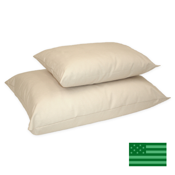 Naturepedic Organic Cotton & Kapok Junior Size Pillow