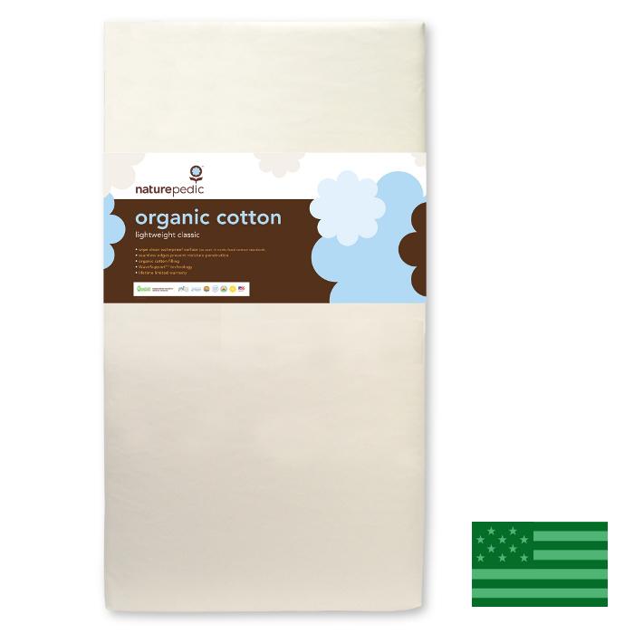 Naturepedic Organic Lightweight Classic Baby Crib Mattress - Waterproof