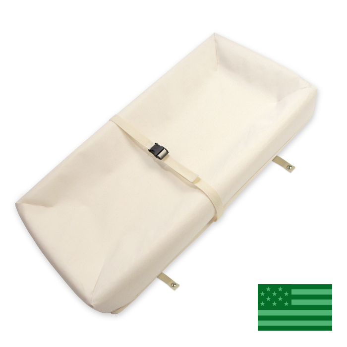 "Naturepedic Organic Contour 4 Sided Baby Changing Pad - 31.5""x16.5"""