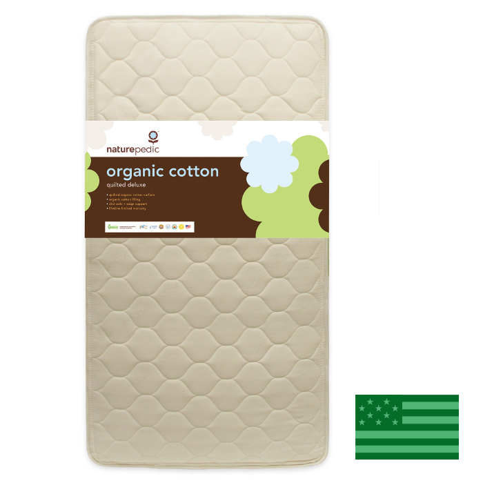 Naturepedic Organic Quilted Deluxe Baby Crib Mattress