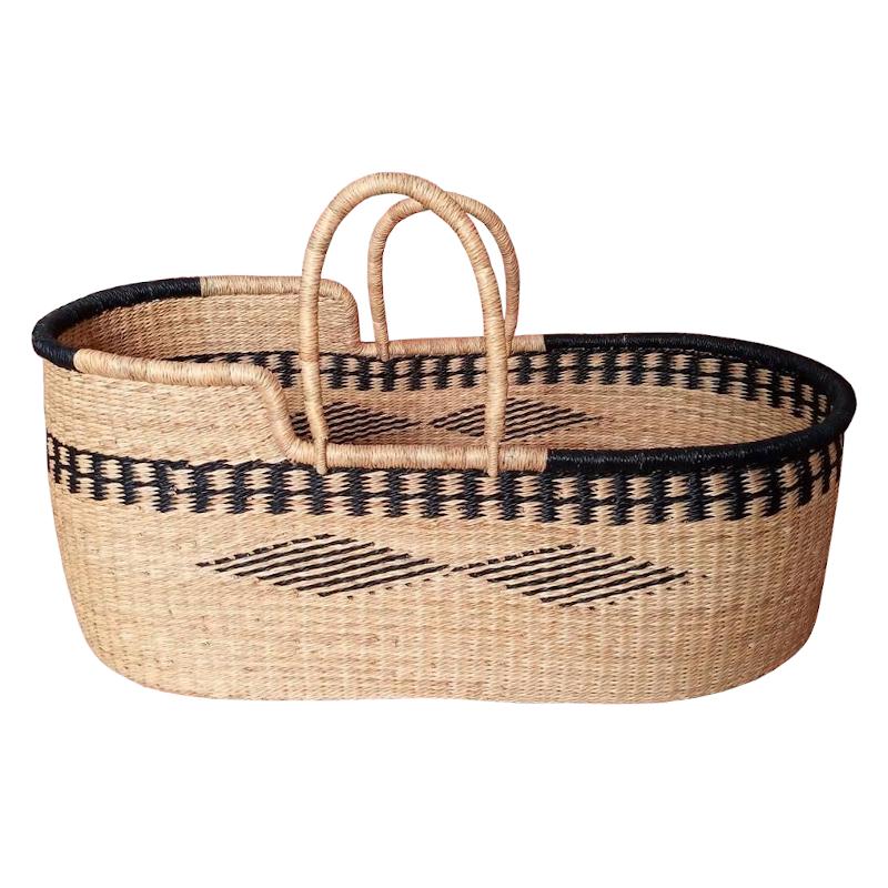 Meadow Bolga Moses Basket