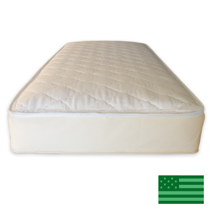 Naturepedic Organic Ultra Quilted 2 in 1 Twin Mattress - Waterproof