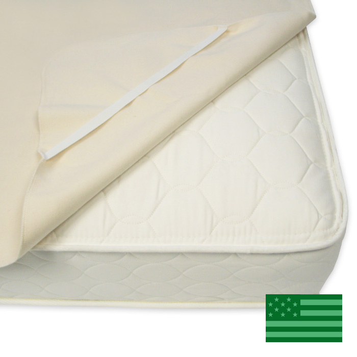 Naturepedic Organic Flannel Twin Mattress Protector Pad - Non Waterproof