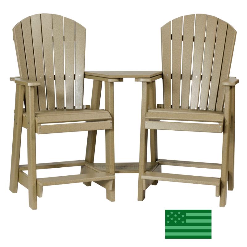 Newport Beach Twin Adirondack Balcony Chairs Made In Usa