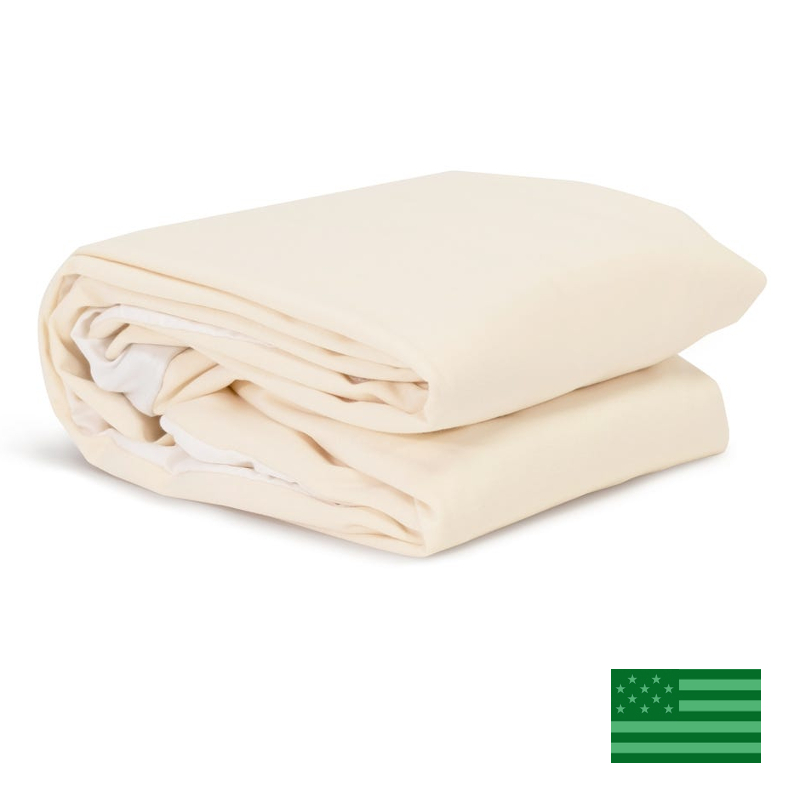 Naturepedic Organic Twin Mattress Fitted Protector Pad - Waterproof