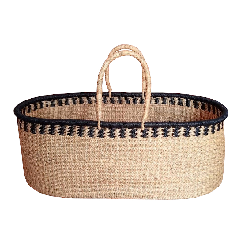 Large Raven Moses Basket for Loungers