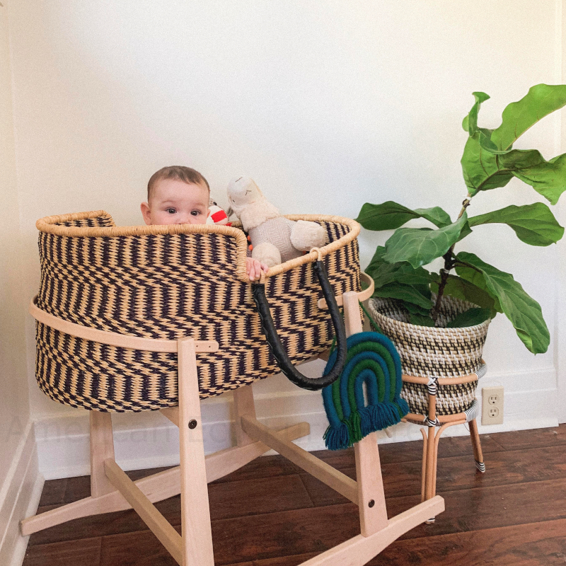 Large Solstice Moses Basket for Loungers