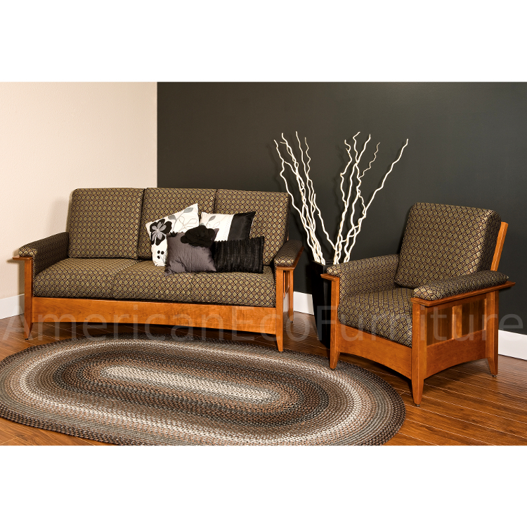 amish albany chair  usa made living room furniture