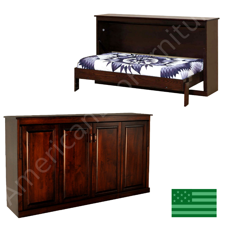 Avalon murphy bed made in usa american eco furniture for American made beds