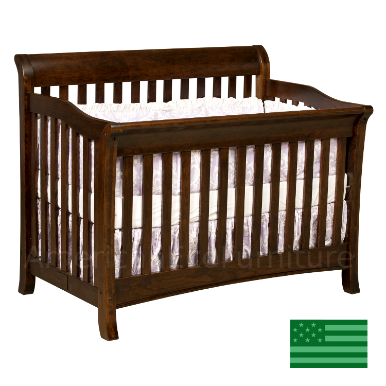 Belmont Convertible Baby Crib Made In Usa American Eco